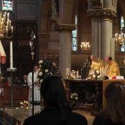 Zangkoor-mannenkoor IHD in de Basiliek in Schiedam