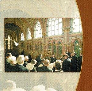 CD cover back of the Gregorian men's choir