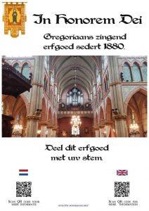 Poster Gregoriaans mannenkoor